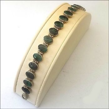 Oval Chilean Bracelet with Malachite